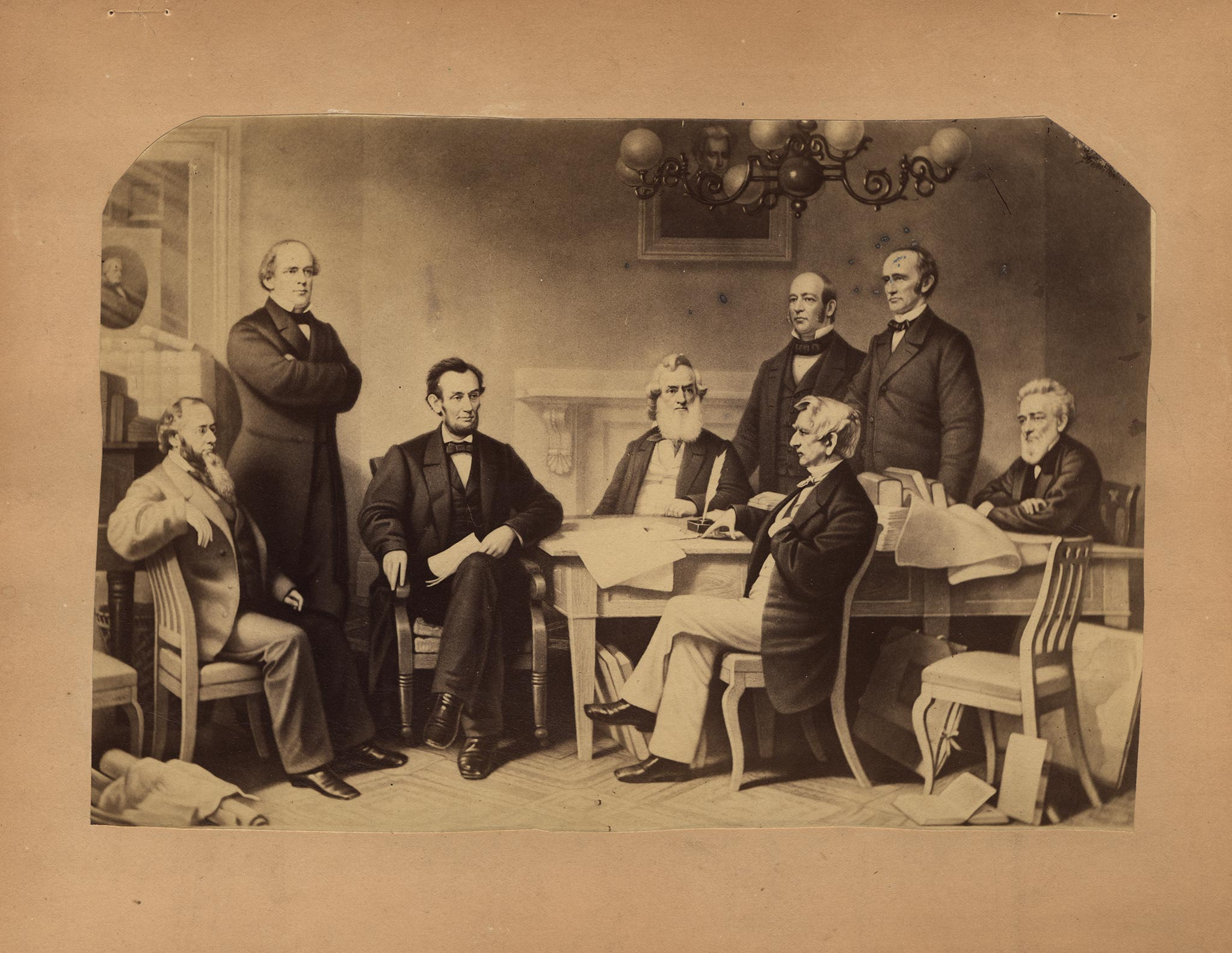 The First Reading of the Emancipation Proclamation before the Cabinet by Alexander Ritchie LN-1488