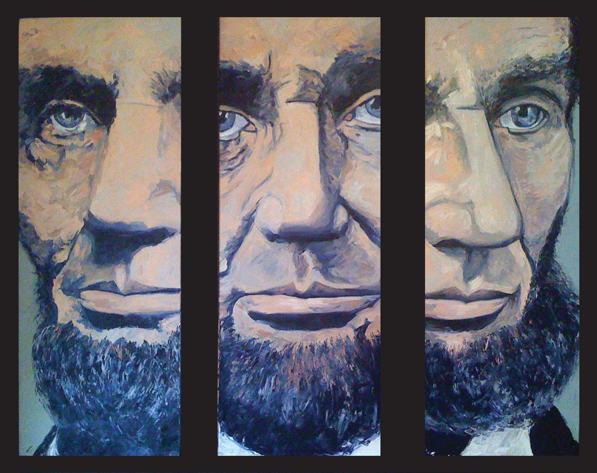 Lincoln 165, Wendy Allen, Oil on Canvas
