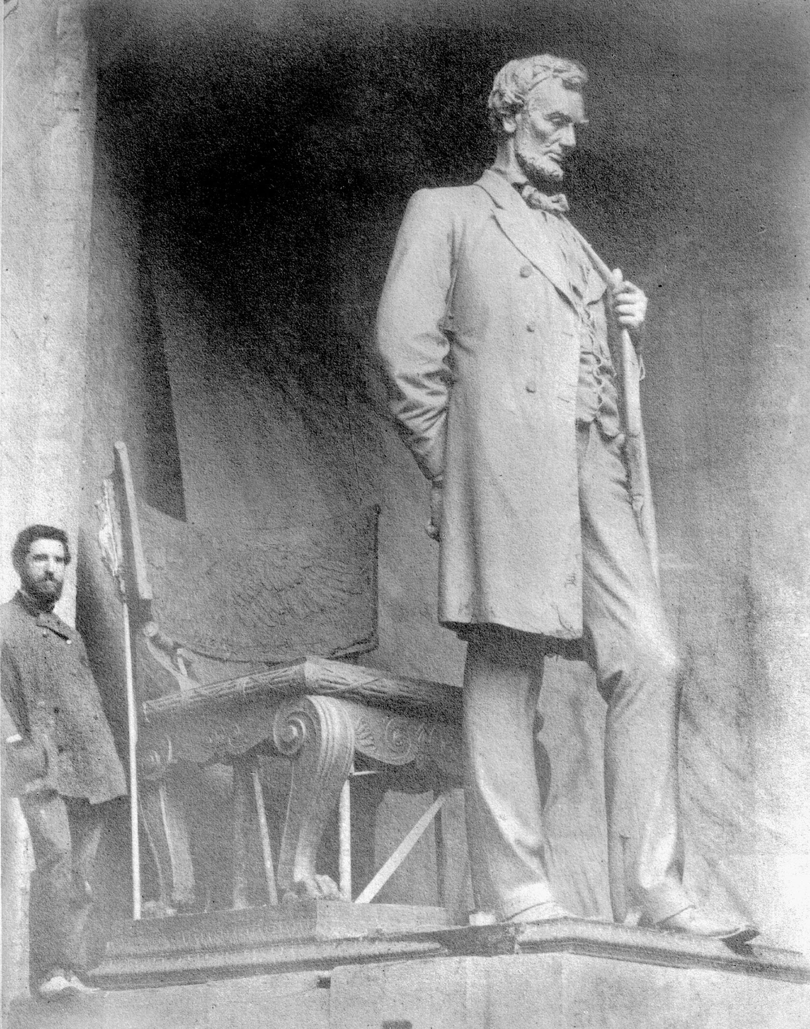 Saint-Gaudens and the Standing Lincoln, Photo: National Park Service