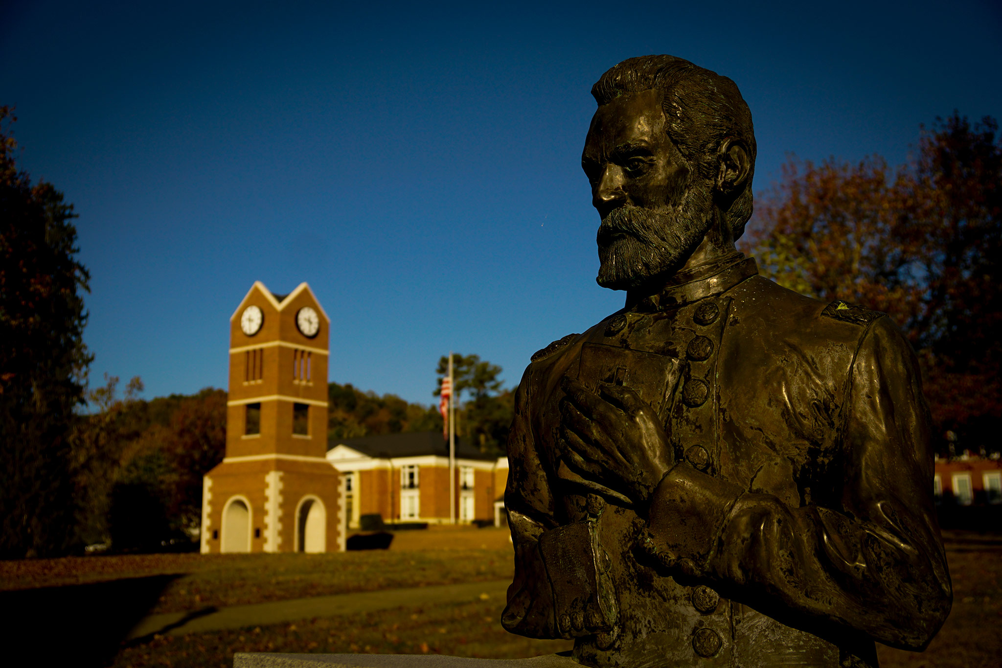 Statue of Oliver Otis Howard at Lincoln Memorial University, Photo: Charles Hubbard